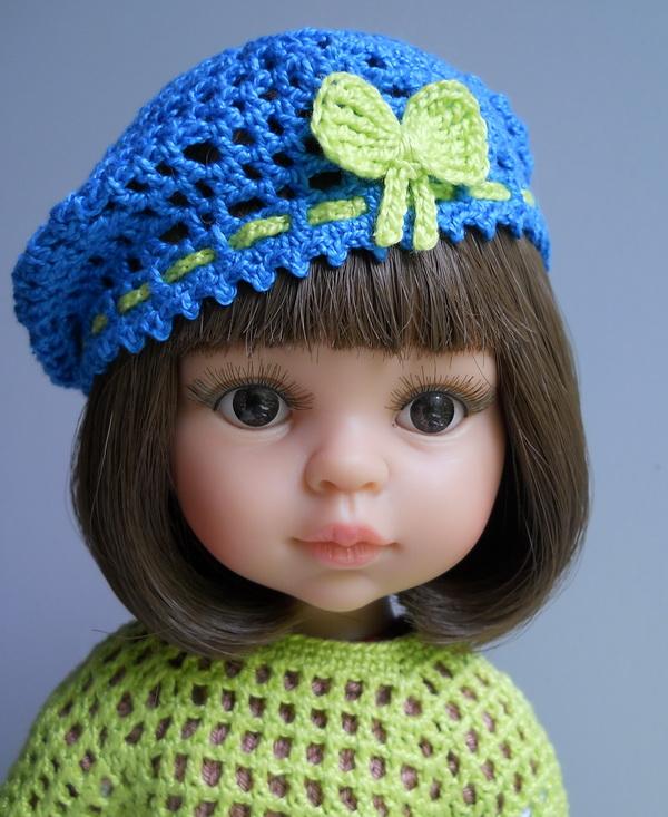 берет для куклы Паола Рейна